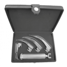 Fibre Optic Laryngoscope-macintosh 3 blades with 2 extra LED Bulbs